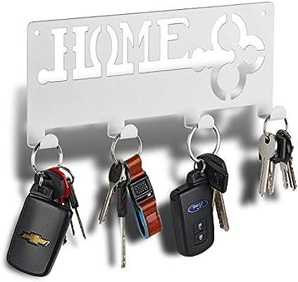 Decorative Key Rack Modern Key Rack 4 Hooks Keyring Holder Hanging Coat Key