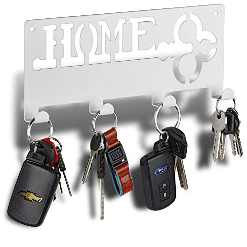 Decorative Key Rack   Modern Key Rack 4 Hooks   Keyring Holder   Hanging Coat Key Holder with Hooks   Wall Key Rack   Forgetting is Normal. Stop Losing Your Keys with Our Solution.
