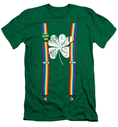 A&E Designs ST. Patrick's Day Shirt Lucky Suspenders Premium Canvas T-Shirt
