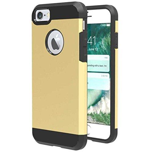 """4.7"""" iPhone 7 Coque, AOFad Case 2 à 1 Protection des lourds Mince or Plastique Armure Accessoires Série Pour Femme Homme L152"""