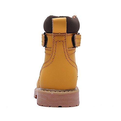 Taoffen Heren Herfst Winterschoenen Mode Gevechtslaarzen Geel