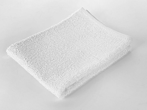 Premium Cotton White Hand Towels, Soft Quality, 12-Pack