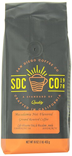 Amazon Lightning Deal 81% claimed: San Diego Coffee Macadamia Nut Flavored Ground Roasted Coffee 16 oz