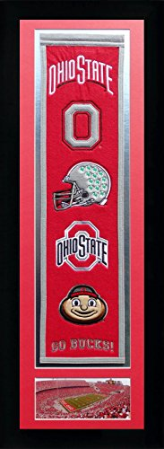 NCAA Ohio State Buckeyes Legends Never Die Team Heritage Banner with Photo, Team Colors, 15'' x 42'' by Legends Never Die