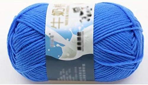 Ovillo de lana para tejer a mano de algodón suave y suave, color ...