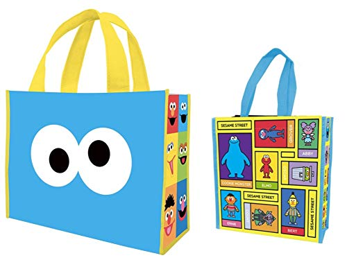 Vandor Sesame Street Large Recycled Shopper Tote and Small Insulated Recycled Tote Set of 2