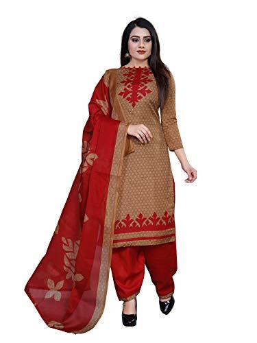 DESIMISS KART Women #39;s Cotton Printed Unstitched Salwar Suit Dupatta Material  1092_G; Multicolour; Free Size