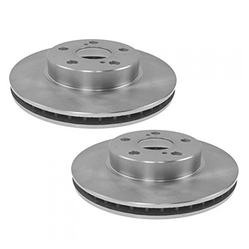 Brake Rotor Driver & Passenger Side Front Pair for 04-09 Toyota Prius