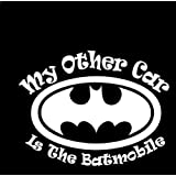 Batman My Other Car Is The Batmobile WHITE Vinyl Car/Laptop/Window/Wall Decal by Decal Addiction
