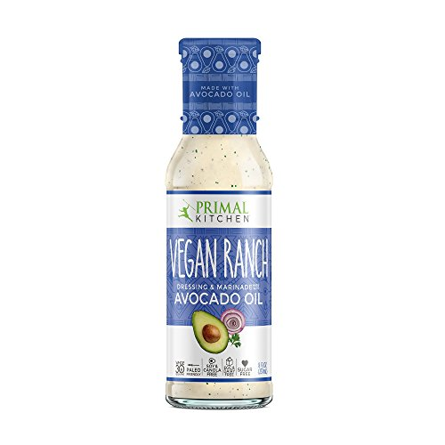 Primal Kitchen - Avocado Oil-Based Dressing and Marinade, Vegan Ranch, 8 oz, Whole30 and Paleo Approved