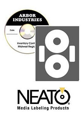 CD DVD Printable Labels - Econo Matte Finish - 100 Disc Labels and 100 Utility Spine and Case Sticker Labels - Online Design Maker Software Included ...