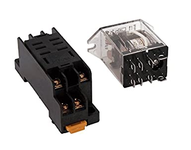DPDT Relay 12 VDC 10A Relay Socket Amazoncom Industrial