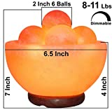 Himalayan Fire Bowl Salt Lamp with 6 Massage Balls