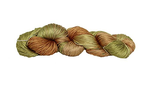 (Mulberry Silk 3-ply hand Tie and Dyed yarn (50 Grams, 260+ yards) | Silk Yarn for Knitting, Weaving or Crocheting)