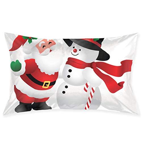 (Kidhome 2030 Inch Throw Pillow Cases Cute Christmas Clipart Snowman Decorative Pillowcase Cushion Cover for Sofa)