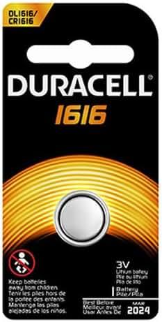 Duracell DL1616BPK Watch / Electronic / Keyless Entry Battery, 3.0 Volt Lithium