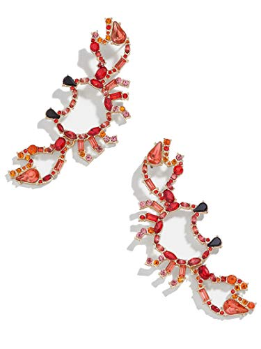 BEST LADY Cute Fruit Animals Drop Earrings - Statement Colorful Shining Crystal Dangle Earrings for Women Summer Holiday Jewelry - Crab Jewelry