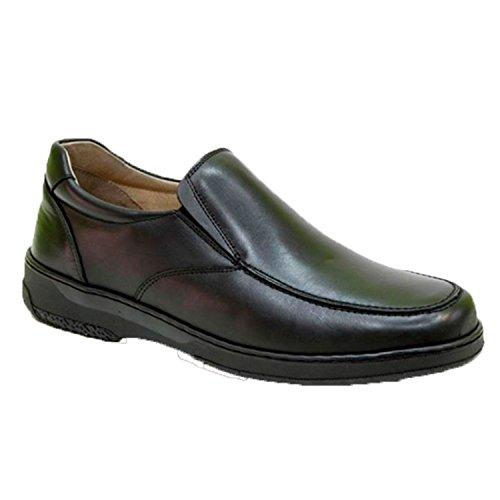 Chaussures homme spéciales pour les diabétiques supplémentaires confortables Primocx en noir