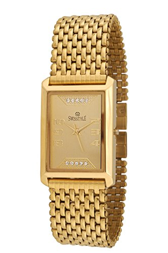 Swisstyle Analogue Gold Dial Men's Watch - Ss-Gsq1194-Gld-Gld