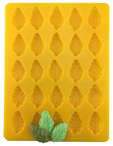 Mint Leaf Soft Candy Cream Cheese Mint Mold Yellow Flexible by