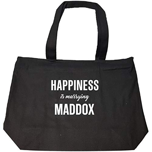 Happiness Is Marrying Maddox Cool Gift - Tote Bag With Zip