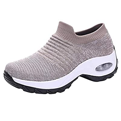Yeyamei Walking Shoes for Women with Air Cushion, Lightweight Running Sneakers Sock Sneakers Casual Nursing Shoes at  Women's Clothing store