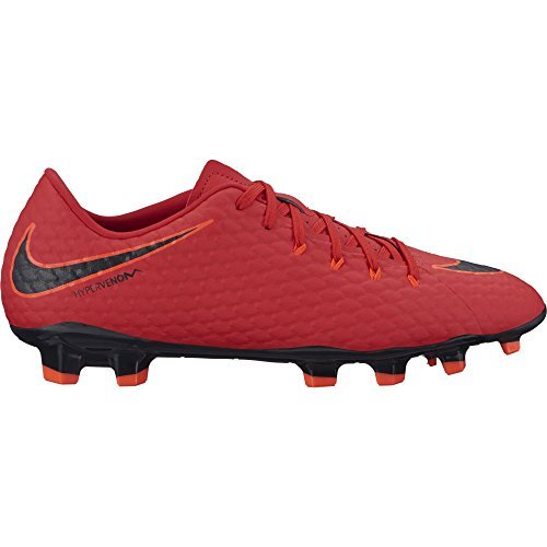 Nike Men's Hypervenom Phelon III FG Soccer Cleats - (University Red/Black) (8.5 D(M) US)