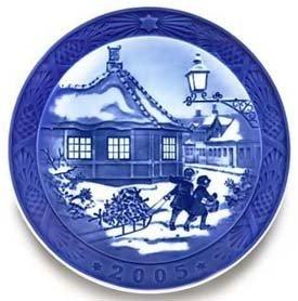 2005 Christmas Plate - 2005 Royal Copenhagen Christmas Plate - HC. Andersen House
