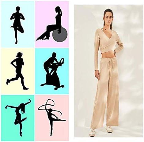 Pantalon Femmes Dames Mode Harem Confort Couleur Unie Casual Harem Lâche Pantalon Yoga Pantalon Femmes Pantalon Taille Haute Yoga Pantalon,Red-S