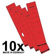 Etiquetas FALKEN 11286887 Papel, largo, autoadhesivo, 60 × 290 mm, Rojo