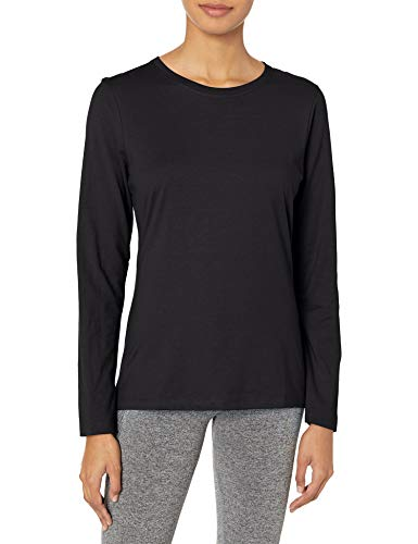 Hanes Women's Long Sleeve Tee, Ebony, Small