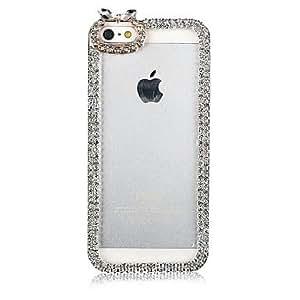 CECT STOCK Inlay Zircon Frame nuevo caso para el iPhone 5/5S