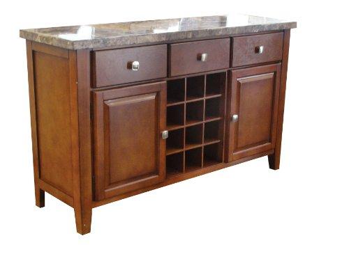 - Acme 07047 Bologna Marble Top Server, Brown
