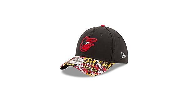 designer fashion 6c7fc a2e56 Amazon.com   Baltimore Orioles New Md Flag Pimlico Turn Back The Clock  39THIRTY Flex Hat (S M)   Clothing