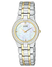 Citizen EG3154-51D Eco-Drive Stiletto Collection Two-Tone Gold & Silver Stainless Steel MOP Dial Women's Watch