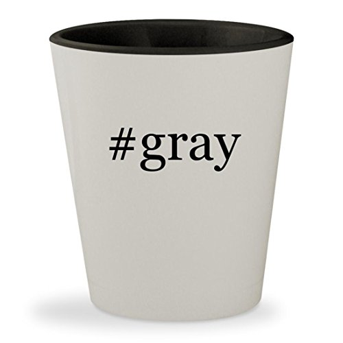 #gray - Hashtag White Outer & Black Inner Ceramic 1.5oz Shot - Athens Macys