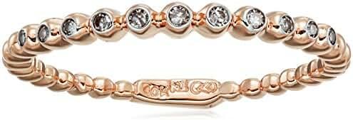 10k Rose Gold White Diamond Ring