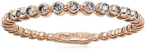 Rose Gold White Diamond Ring product image