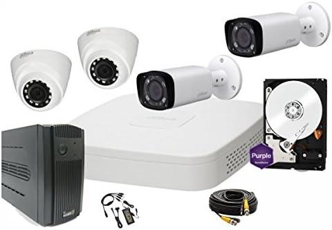 DAHUA - Kit de videovigilancia de 4 Canales HD-CVI Completo