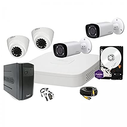 Kit videovigilancia 4 canales HD-CVI – Completo – Dahua