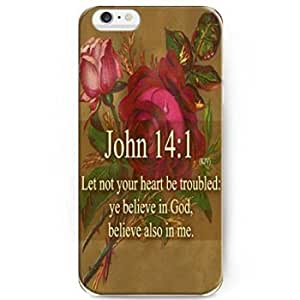 Hot 7179762M55110408 Back Cover Snap on Case for 5.5 inch iPhone 6 Pluswith Inspiration Bible Sayings Let not Your Heart Be Troubled: Ye Believe in God, Belive Also in Me