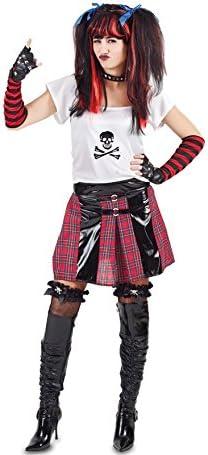 Fyasa 705986-t04 Punk disfraz de niña, tamaño grande: Amazon.es ...