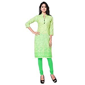 Shilp-Kala Scenic Green Colored Printed Blended Cotton Kurti 6025A XL