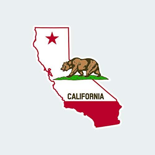 fagraphix California Flag State Shaped Sticker Self Adhesive Vinyl Decal Republic CA California Native