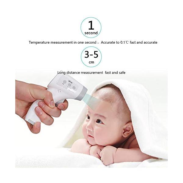 OWSOO Termómetro de Frente, Sin Contacto, Termómetro Digital Infrarrojos para Bebe, Niños, Adultos 4