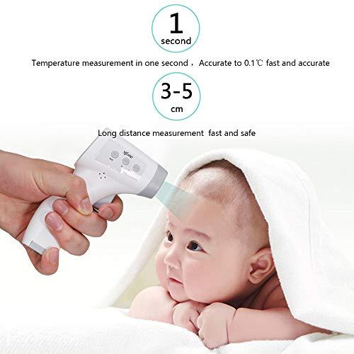 OWSOO Termómetro de Frente, Sin Contacto, Termómetro Digital Infrarrojos para Bebe, Niños, Adultos 3