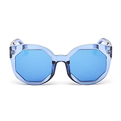 [G&T New Womens And Mens Fashion Personality Big Frame Beach Colorful Sunglasses(C5)] (Womens Army Costumes Australia)