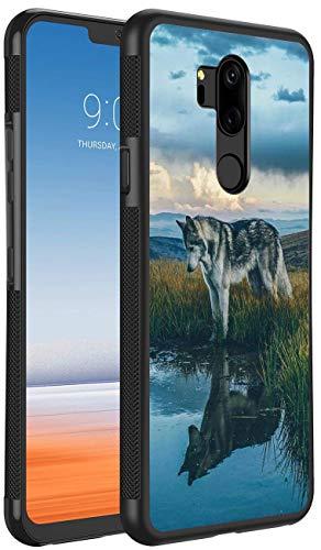 (Prairie Wolf LG G7 ThinQ Phone Case Black TPU Protective case Shockproof Non-Slip Soft Designed Prairie Wolf case for LG G7 ThinQ)