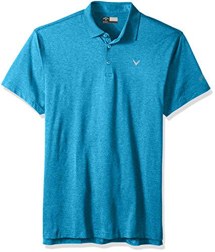 (Callaway Men's Short Sleeve Heather Polo, Cloisonne Heather, X-Large Tall )