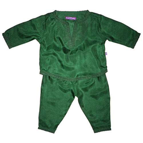 Diwali Baby Indian Infant Boys Outfit - 100% Silk - Holiday Green - 3-6 Months by Diwali Baby
